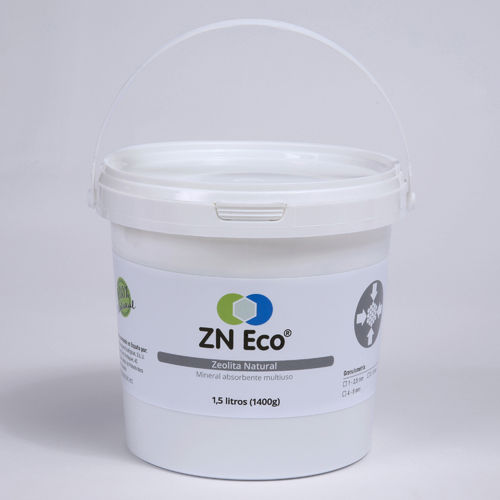 Zeolita Natural ZN ECO de 1-2,5mm - cubo de 1,5 litros