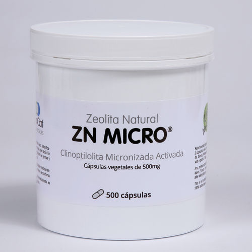 Zeolita Natural   ZN MICRO - 500 cápsulas de 500mg